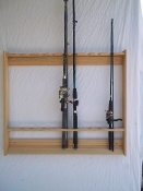 Wallmount Fishing Pole Rack ~ Unfinished