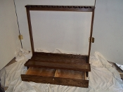 12 Gun Red Oak Rack w/ Locking Drawer ~ Walnut Finish