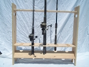 Fishing Pole Rack - Freestanding - Unfinished