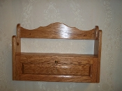 1 Gun Rack with Locking Storage Compartment ~ Golden Oak Finish
