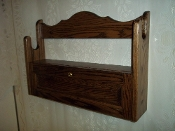 1 Gun Rack with Locking Storage Compartment ~ Walnut Finish