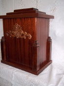 Ornate Mahogany Urn
