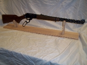 Mantle Style Gun Display Rack For 30-30 Rifle Unfinished