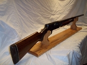 Mantle Style Gun Display Rack For Shotgun ~ Golden Oak