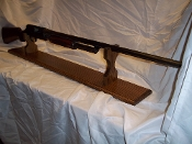 Mantle Style Gun Display Rack For Shotgun ~ Walnut