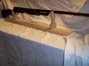 Mantle Style Gun Display Rack For Shotgun -  Unfinished