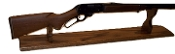 Mantle Style Gun Display Rack For 30-30 Rifle ~ Walnut Finish